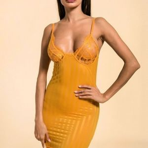 Yellow lingerie gown
